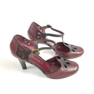 Marc by Marc Jacobs Maroon Ankle Strap Heels 40